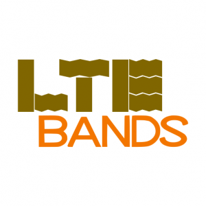 Domain Name: LTEBands.com and its custom vector logo