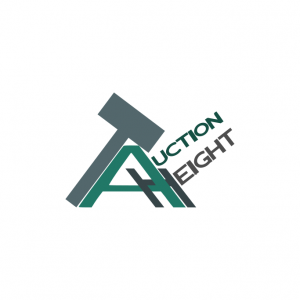 Domain Name: AuctionHeight.com and its custom vector logo