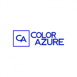 Domain Name: ColorAzure and its custom vector logo