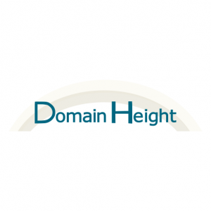 Domain Name: DomainHeight.com and its custom vector logo